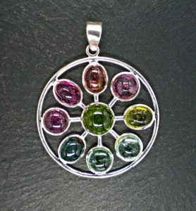 Aquamarine-Mix Jeweled-Pendant